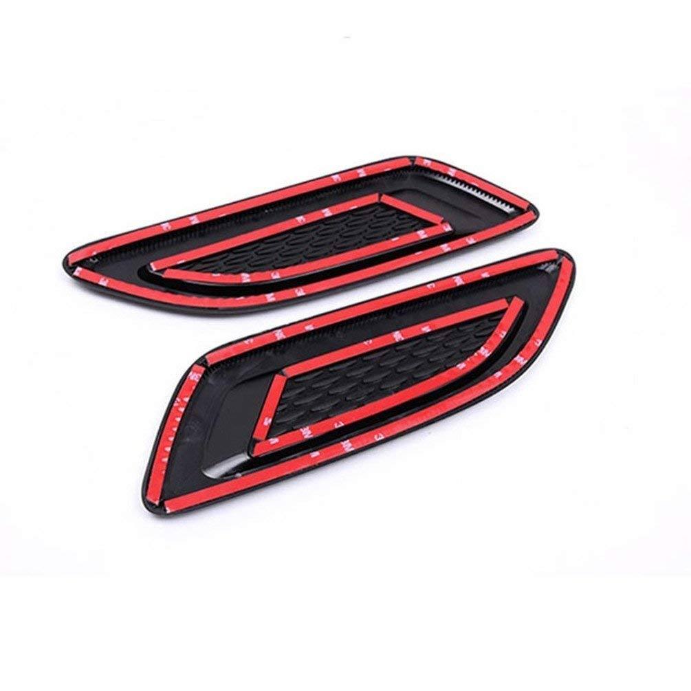 Accessori per auto per Discovery sport LR4 per Evoque Vogue Hood Air Vent Outlet Wing Trim adesivi 2PC