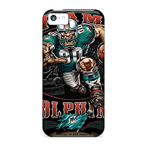 IanJoeyPatricia Iphone 5c Scratch Resistant Cell-phone Hard Covers Support Personal Customs Attractive Miami Dolphins Pattern [ejv557ywjJ]