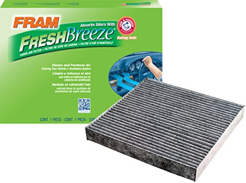 Car Air Conditioner Filter (FRAM CF10134 Fresh Breeze Cabin Air Filter with Arm & Hammer)