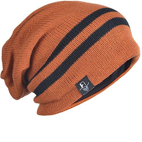 Knit grande Herrumbre Cap forbusite largo invierno Slouchy gorro verano Beanie 70PyXq