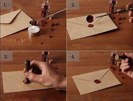 MDLG Vintage-Schl/üssel Custom Bild Logo Hochzeit Einladung Wachssiegel fadensiegelung Stempel Set Kit Box Kit