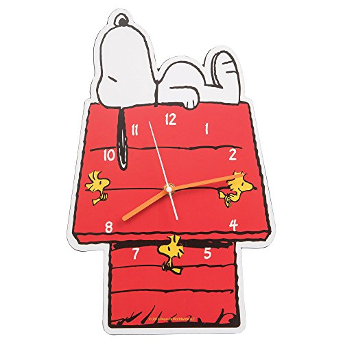 Vandor 85189 Peanuts Snoopy Shaped Deco Wall Clock -
