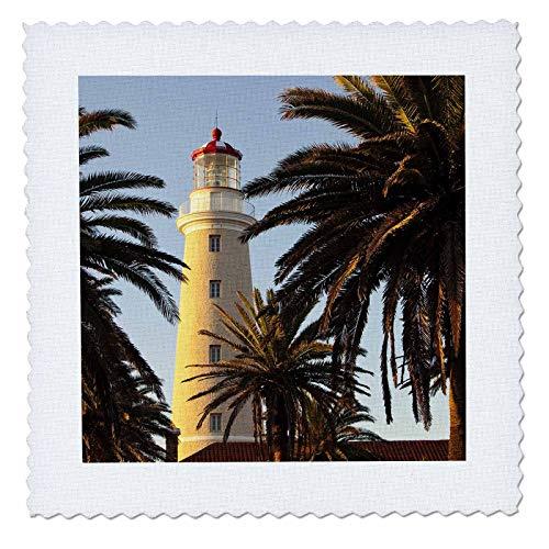 (3dRose Danita Delimont - Uruguay - East Point Lighthouse, Punta Del Este, Uruguay, South America - 10x10 inch quilt square (qs_314401_1))