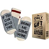 "WINE SOCKS + GIFT BOX -""If you can read this bring me some Wine"" One of the best Gifts for Women and Stocking Stuffers: Also excellent as birthday present and gifts under 20 dollars"