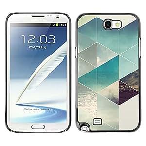 Be Good Phone Accessory // Dura Cáscara cubierta Protectora Caso Carcasa Funda de Protección para Samsung Note 2 N7100 // Polygon Surf Summer Sun Pattern