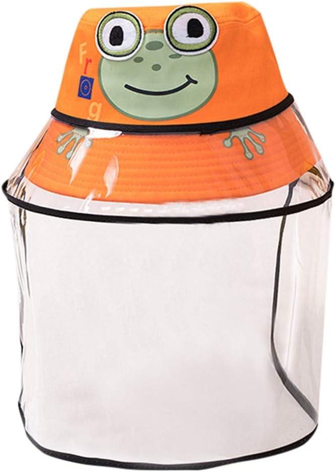 Amarillo NINGNETI Sombrero Gorra Protector Anti-Saliva Cubierta A Prueba De Polvo Ni/ños Ni/ñas Tapa De Pescador Tapa Cap Facial Visera Transparente NS-0330A25