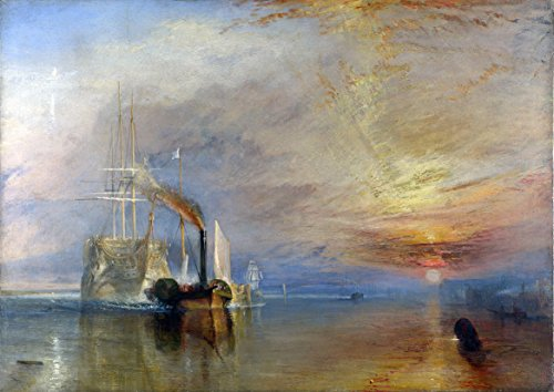 William Turner: The Fighting Temeraire Tugged to Her Last Berth to be Broken Up. Historical/Military Fine Art Print/Poster. Size A4 (29.7cm x 21cm) (The Fighting Temeraire Tugged To Her Last Berth)