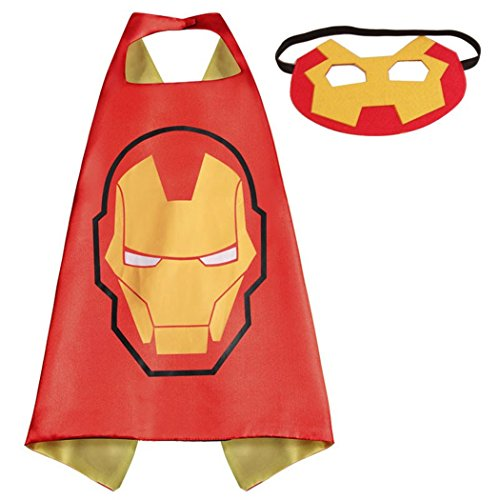 Iron Man Whoopgifts Superhero Superman Kids Cape and Mask Costume for Child