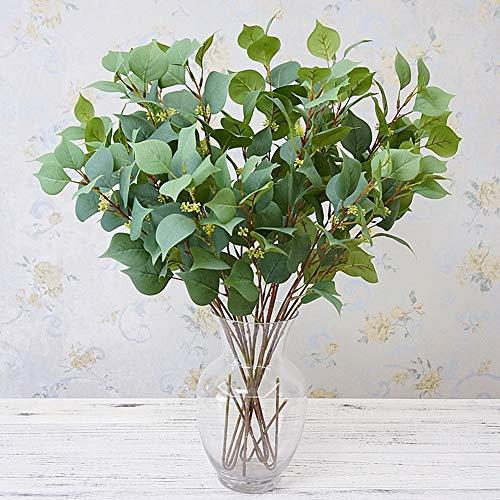 (Braceus 1Pc Artificial Bodhi Leaf Plant Home Garden Stage Flower Arrangement DIY Decor Beautiful Realistic Plants Greenery Restaurant Hotel Desk Decoration)