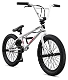 frame bmx - Mongoose Boys Legion L20 Bicycle, White, One Size/20