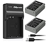OAproda Replacement BLN-1 Battery (2-Pack) and Ultra Slim Micro USB Battery Charger for Olympus BLN1, BCN-1, OM-D E-M1, M5, M5 Mark II, PEN F, E-P5 Digital Camera