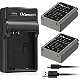 OAproda Replacement Olympus BLN-1 Battery (2-Pack) and Rapid Micro USB Charger for Olympus BLN1, BCN-1, Pen F, PEN E-P5, OM-D E-M5, OM-D E-M5 Mark II, OM-D E-M1 Digital SLR Camera
