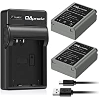 OAproda Replacement BLN-1 Battery (2-Pack) and Ultra Slim Micro USB Battery Charger for Olympus BLN1, BCN-1, OM-D E-M1, M5, M5 Mark II, PEN F, E-P5 Digital Camera (Light Weight,Fast Charge)
