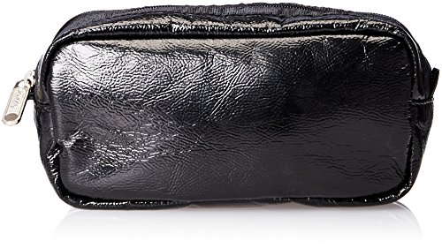 LeSportsac Kevyn Case Cosmetic Bag, Black Crinkle Patent, One Size