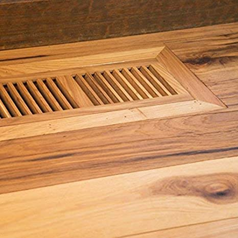Welland 4 X 14 Hickory Wood Flush Mount Floor Register Vent Unfinished 3 4 Thickness Home Improvement