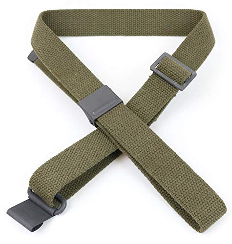 AmmoGarand Green Web Sling M1 Garand US GI Pattern Two Point OD Cotton Made in USA