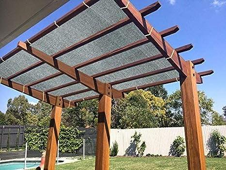 E.enjoy Malla Sombra De Red Techo De Tela De Bloqueador Solar Negro Resistente A Rayos UV Pabellón De Pérgola (Tamaño : 400cm x 1000cm): Amazon.es: Hogar