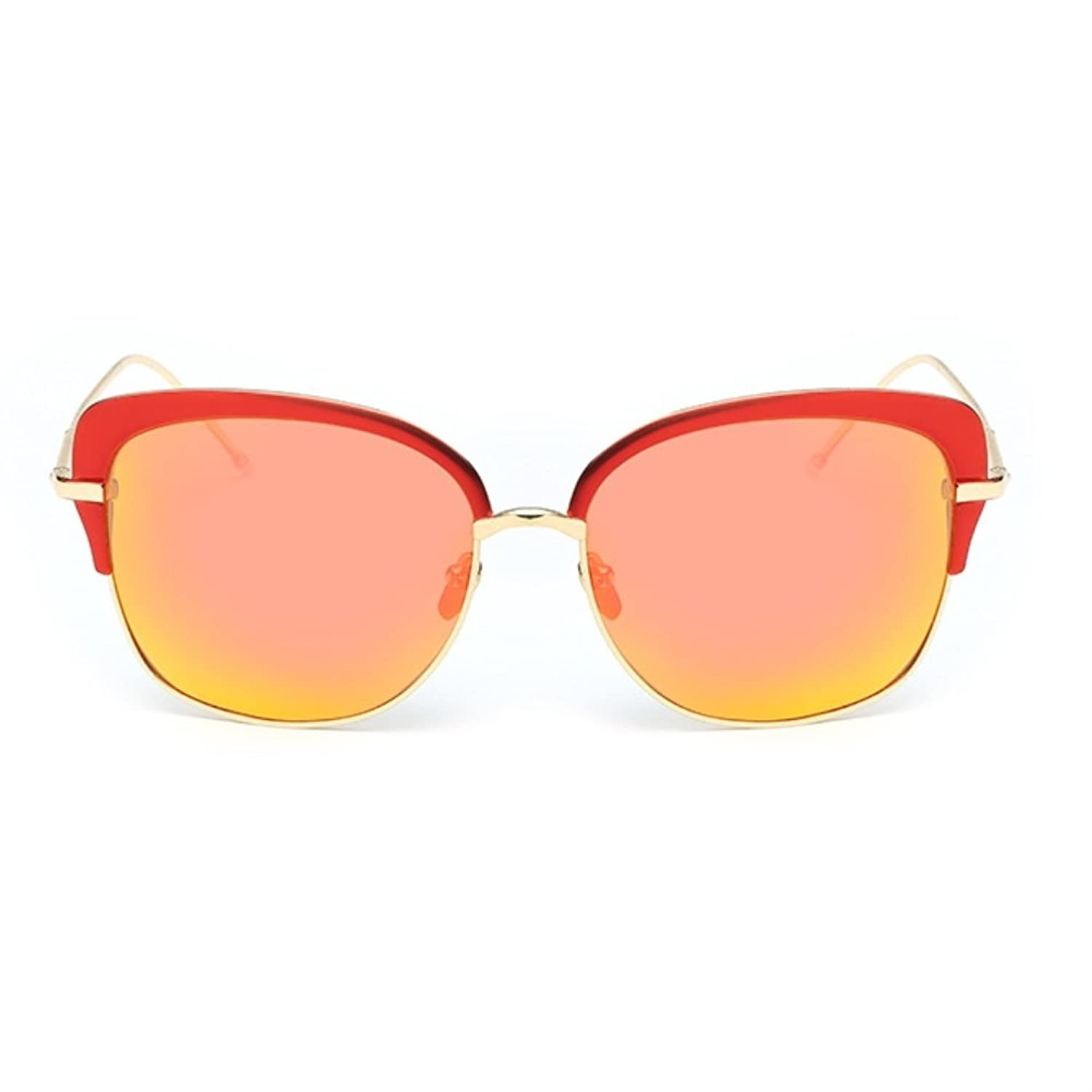 CUSHAPE ASG800037 Fashionable Resin Polarized Lens Retro Metal Frames Sunglasses