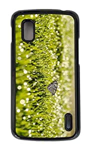 Google Nexus 4 Case,MOKSHOP Adorable grass sunrise butterfly Hard Case Protective Shell Cell Phone Cover For Google Nexus 4 - PC Black