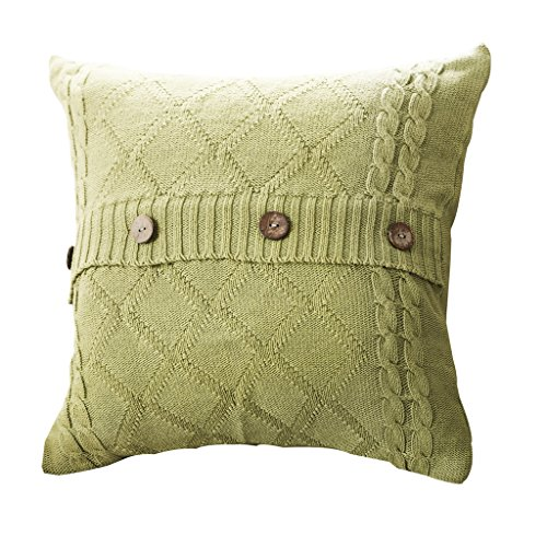 (Cotton Tattoo Diamond Knitted Pillowcases, The Original Ecological Coconut Shell Buttons, Colorful Pillow with Your Home Style.)