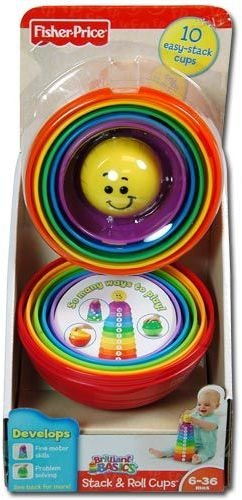 Fisher Price Stack Roll Cups