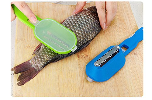 foyojo 1 Skinner Scaler Fishing Tools Knife, Blue Green
