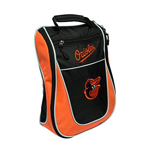 Team Golf MLB Baltimore Orioles Travel Golf Shoe Bag, Reduce Smells, Extra Pocket for Storage, Carry Handle