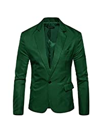 Susan1999 Men's Thin Casual Blazer Cotton Slim Suit Jacket Blazer