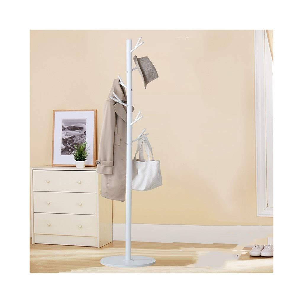 White LXJYMXModern Floor Cap and Coat Rack Hanger entran Bedroom Wall Hanger Iron, Creative Branch Shape Hanger (color   White)