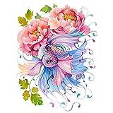 Diy colorido Pintura digital por números Arte sin marco para la pared casera Peces de acuarela
