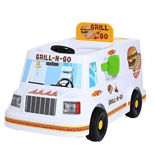 Rollplay 6 Volt Grill N' Go Food Truck Ride On Toy, Battery-Powered Kid's Ride On Car