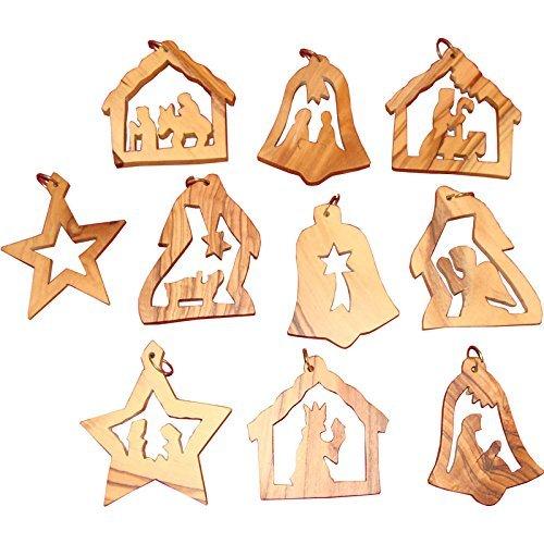 Zuluf 5cm Christmas Tree Ornaments Set Hand Made Jerusalem Holy Land
