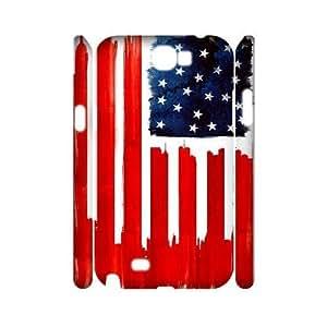 Retro American Flag 3D-Printed ZLB527214 DIY 3D Phone Case for Samsung Galaxy Note 2 N7100