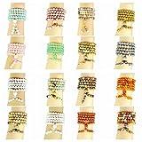 jennysun2010 Handmade Multi-Purpose Natural 8mm Gemstone Buddhist 108 Beads Prayer Mala Stretchy Bracelet Necklace Healing