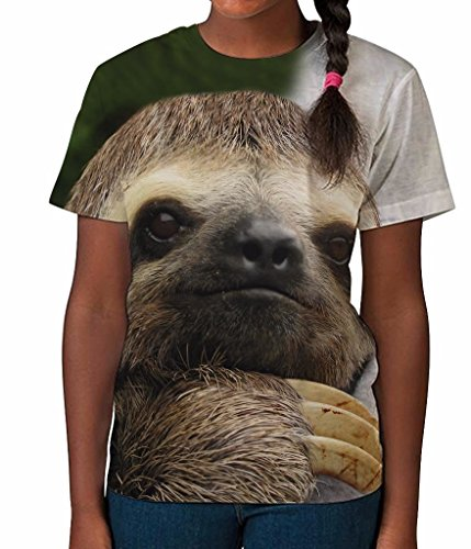 Bang Tidy Clothing Kids Graphic Tee Youth T Shirt Sloth Face Clothes For Girls - Sloth T-Shirts