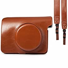 PU Leather Shoulder Strap Bag Case Pouch For FUJIFILM Polaroid Instax Wide 300 Vintage Instant Camera Carry Cover
