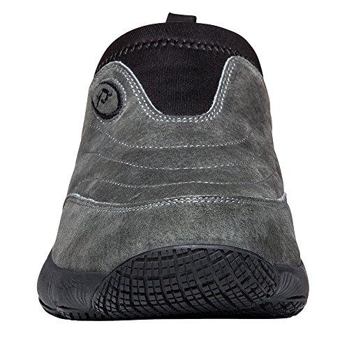 Propet Mens M3850 Lavable Moc Chaussure De Marche Pewter Daim