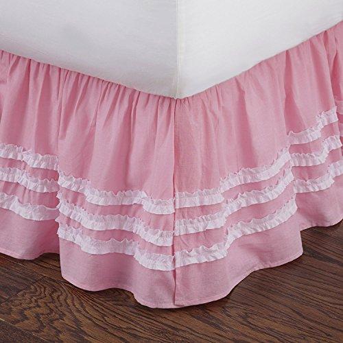 Levtex home Dust Ruffles, 54x75+ 16, Pink