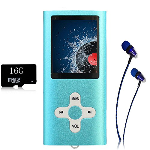 MP3 Player/Music Player,EVASA with a 16 GB TF Card Portable Digital Music Player/Video/Voice record/FM Radio/E-Book Reader,Ultra Slim 1.8''Screen