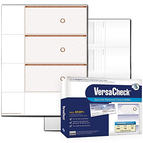 VersaCheck UV Secure PERSONAL Check Refills, Form 3001, T...
