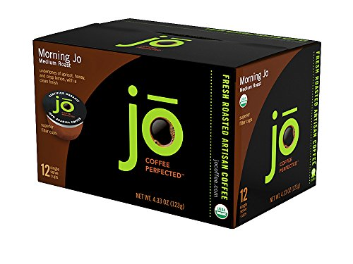 Morning Jo  72 Cup Organic Breakfast Blend Single Serve Coffee For Keurig K Cup Brewers  Keurig 1 0   2 0 Compatible Eco Friendly Cup  Light Medium Roast  No Additives  Non Gmo