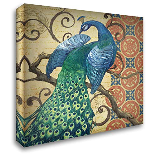 - Peacocks Splendor II 28x28 Gallery Wrapped Stretched Canvas Art by Brent, Paul