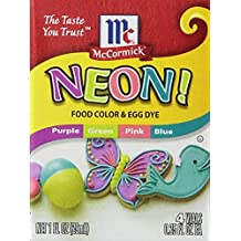 Neon Purple Green Pink Blue 4-pack Food Color