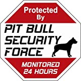 "Pit Bull Dog Yard Sign ""Security Force Pit Bull """