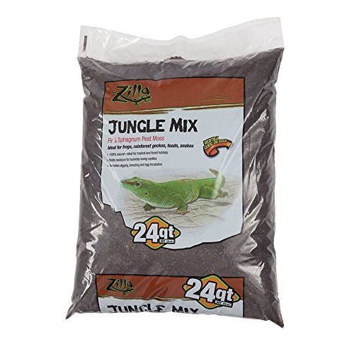 Earth Mix - Zilla Reptile Terrarium Bedding Substrate Jungle Mix Moss & Fir, 24-Qt