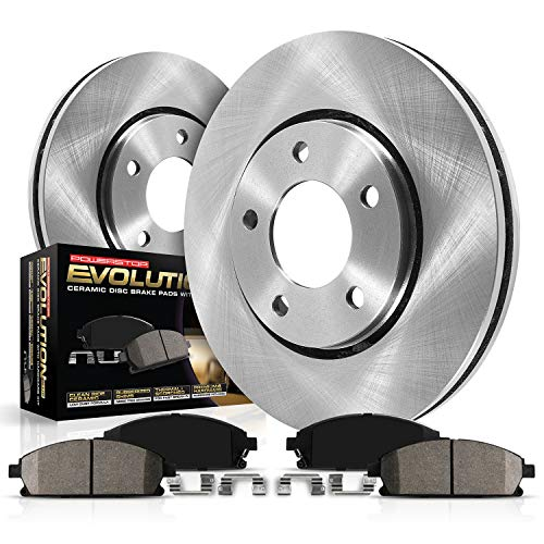 Power Stop KOE5908 Autospeciality Replacement Front Brake Kit- OE Rotors & Ceramic Brake Pads