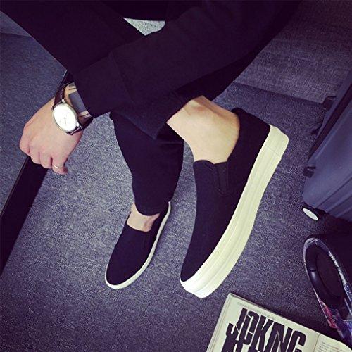 tavola basse inferiore Espadrillas uomo scarpe da Gray da Size 39 coreano Scarpe di Black moda uomo di casual YaNanHome Scarpe Color scarpe di tela spessore da Txq757
