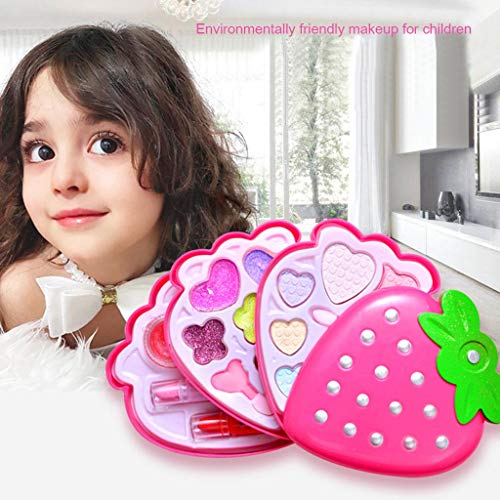 LtrottedJ Little Girls Pretend Makeup Kit Cosmetic Pretend Toys Children Best Gift Toy Set (A)