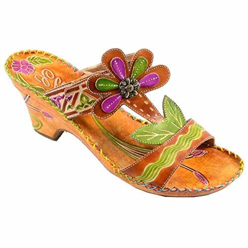 Corkys Elite Pacific Amber Slip-on Sandal with Velcro Str...