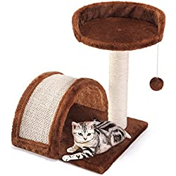 Cat Tree Post Scratcher Furniture Play House Pet Bed Kitten Toy Coffee Mini New